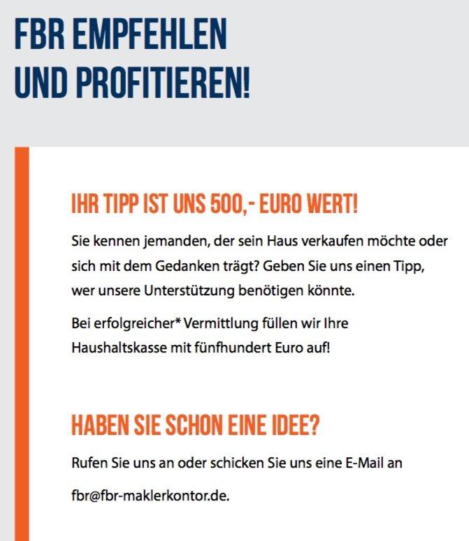 FBR Tipp - Ihre Chance auf 500 €