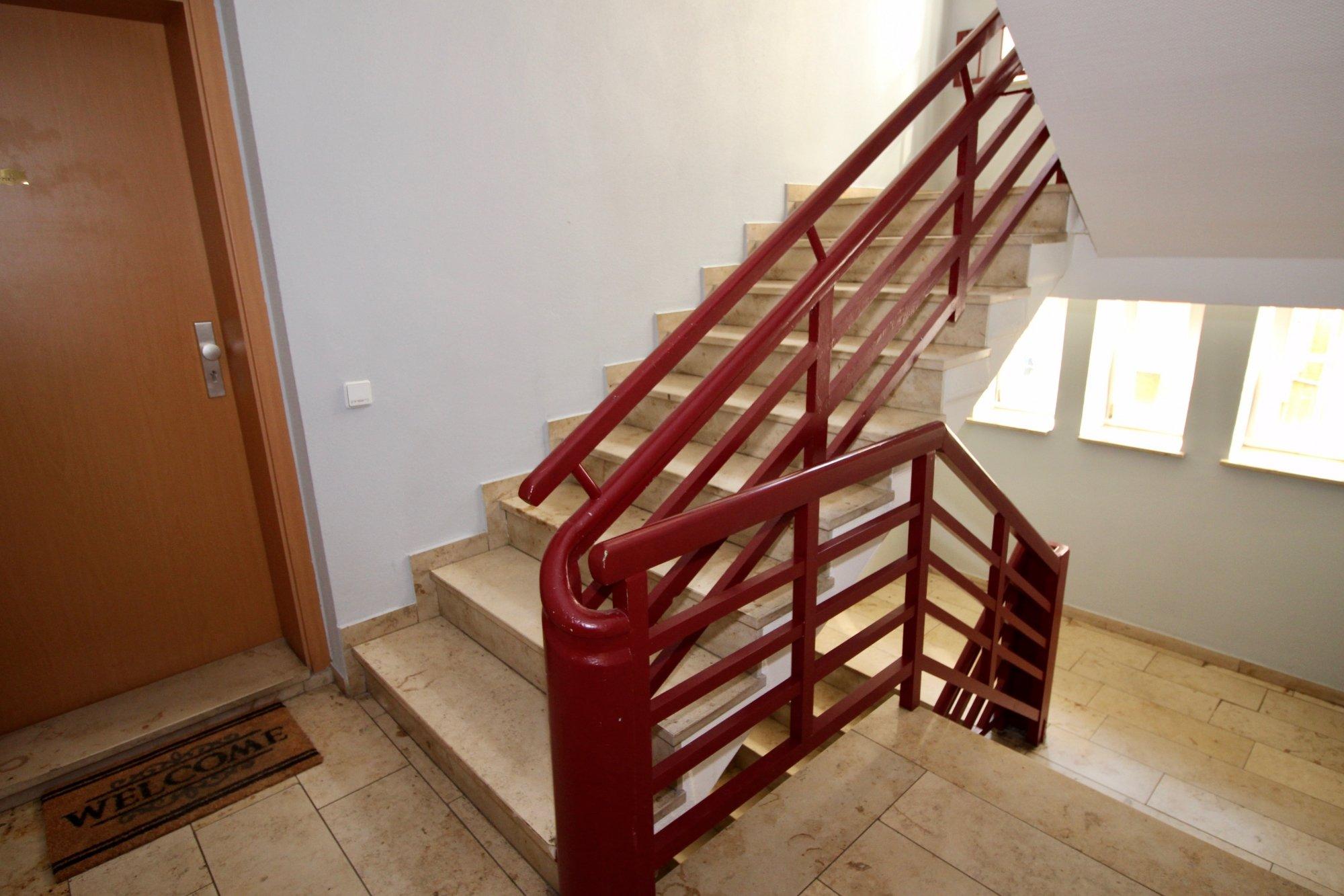 Das helle Treppenhaus