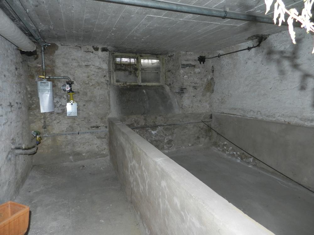 Keller und Gasanschluss