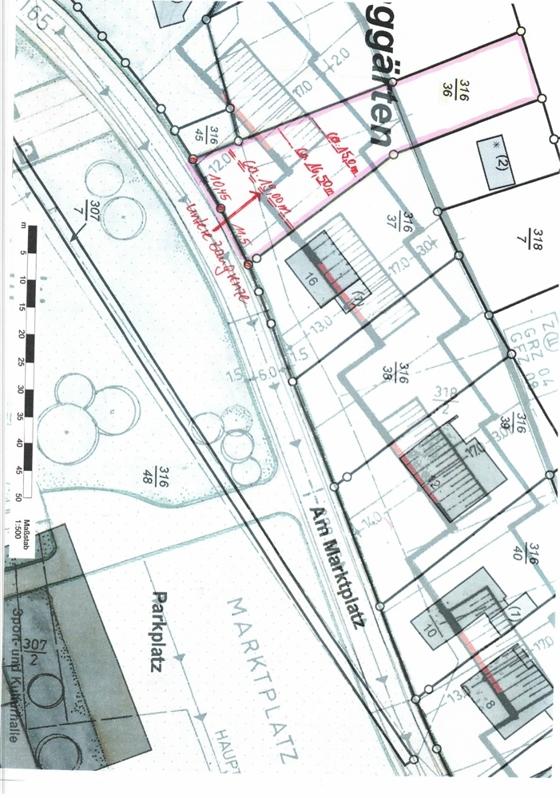 Bebauungsplan Grundstück