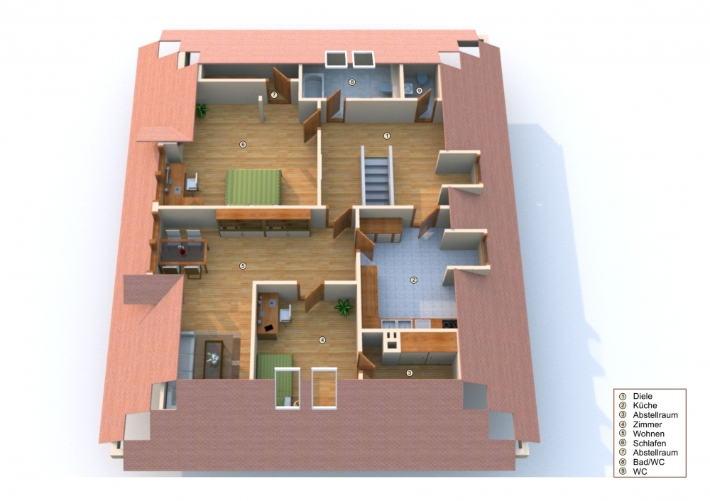 Grundriss Wohnung