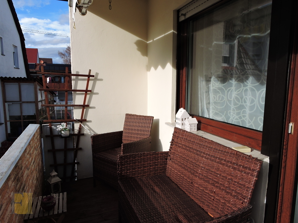 Süd/West-Balkon
