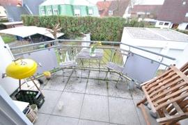 Angenehm freigestellter Balkon