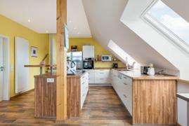 offener Wohn-/Küchen-/Essbereich