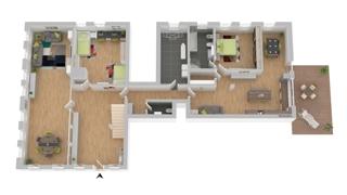 Grundriss EG : Wohnung 1