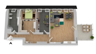 Grundriss OG: Wohnung 4