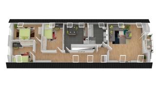 Grundriss DG : Wohnung 5