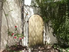 Romantischer Ausgang im Innenhof