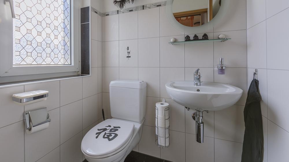 ...und separates WC.