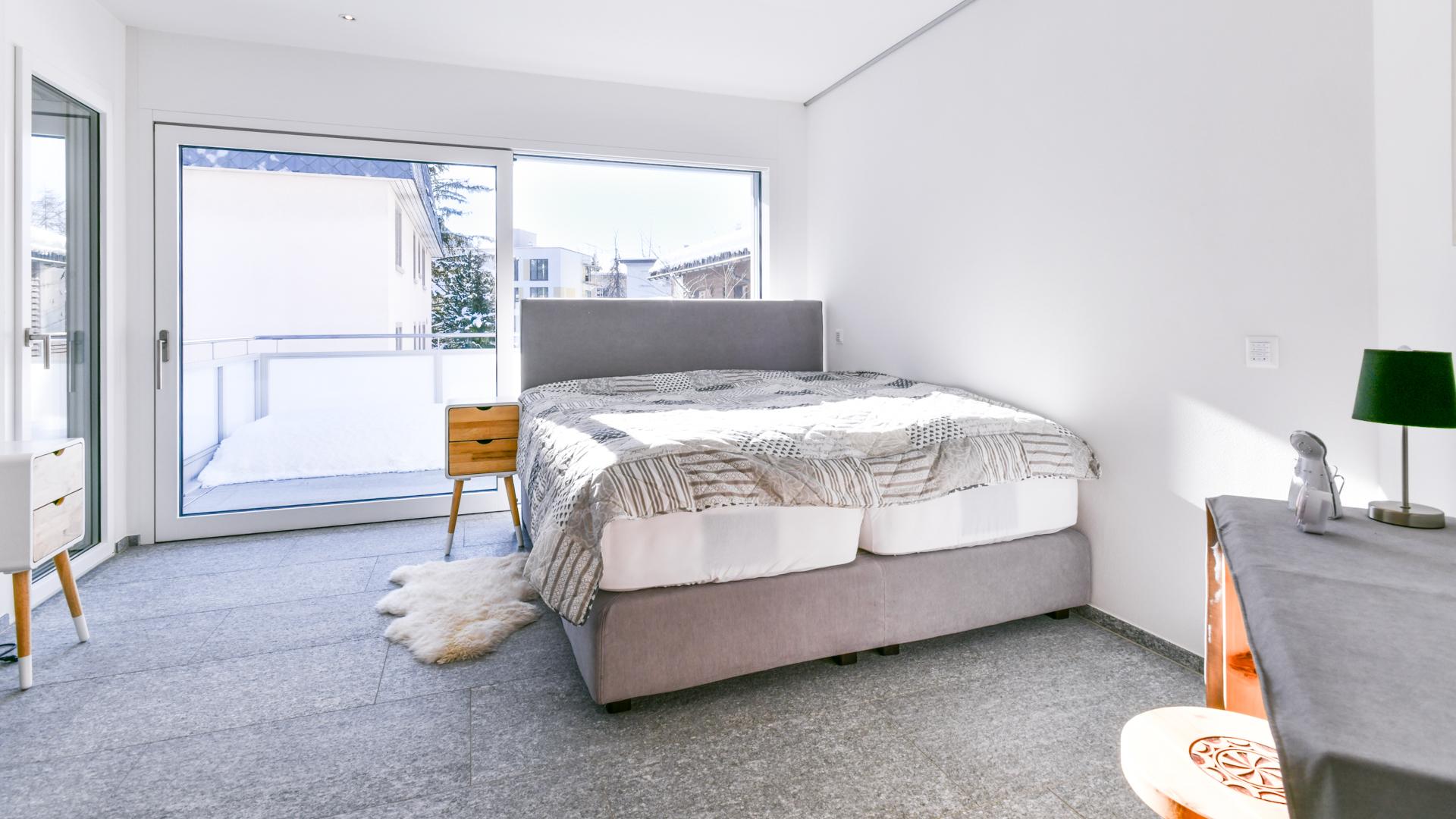 Von jedem Schlafzimmer ist ein direkter Balkonzugang vorhanden.