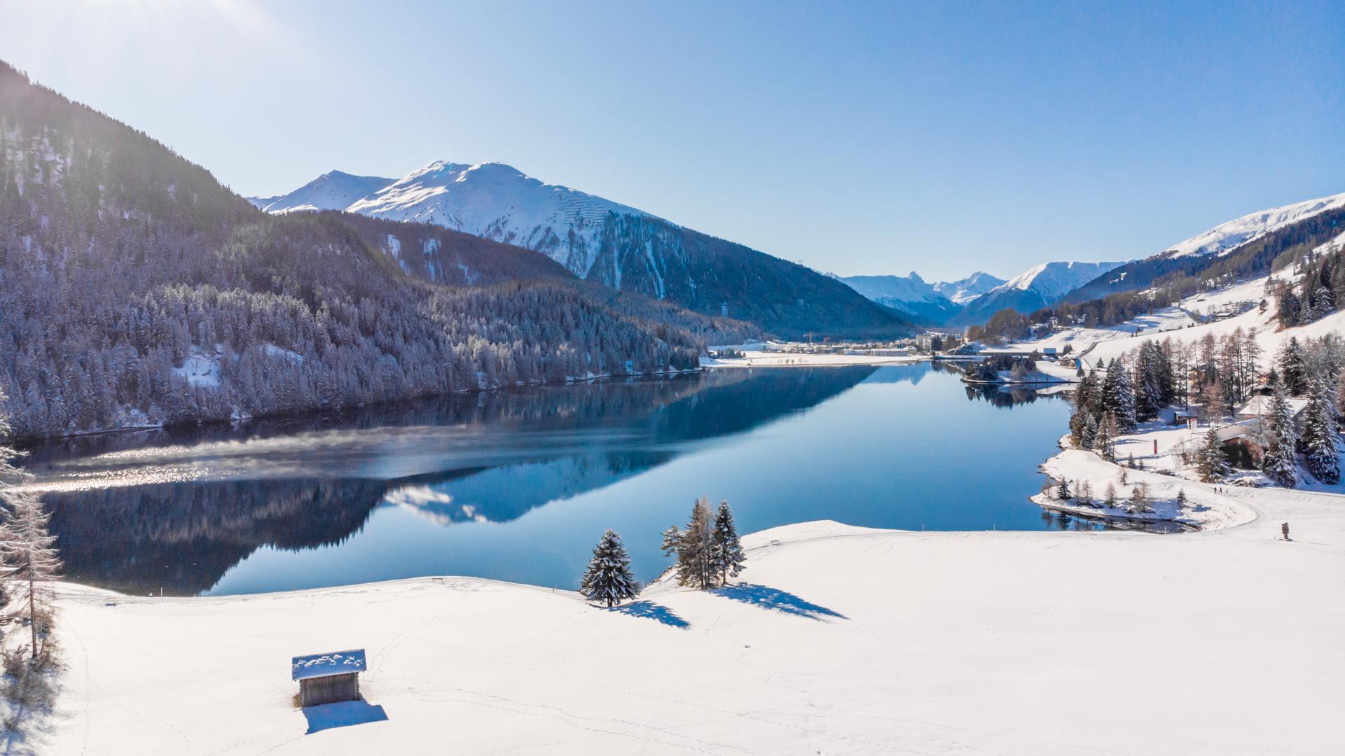 Wie z.B. das Naturwunder des Davosersees.