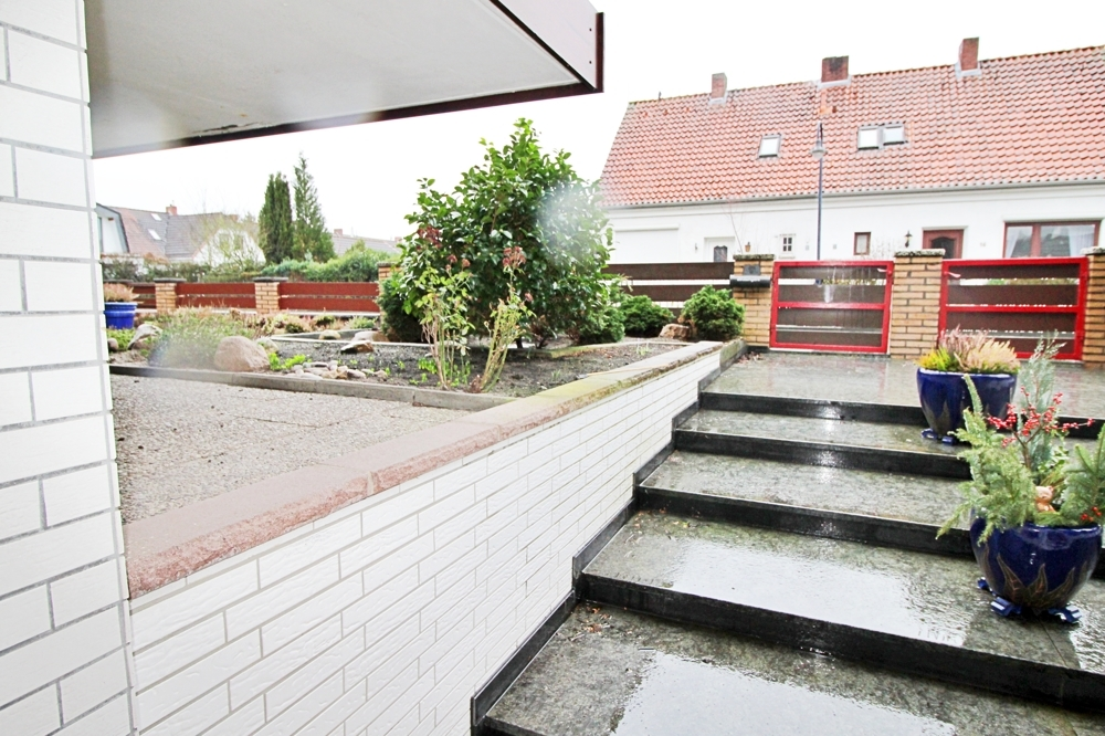 Treppe zum Hauseingang