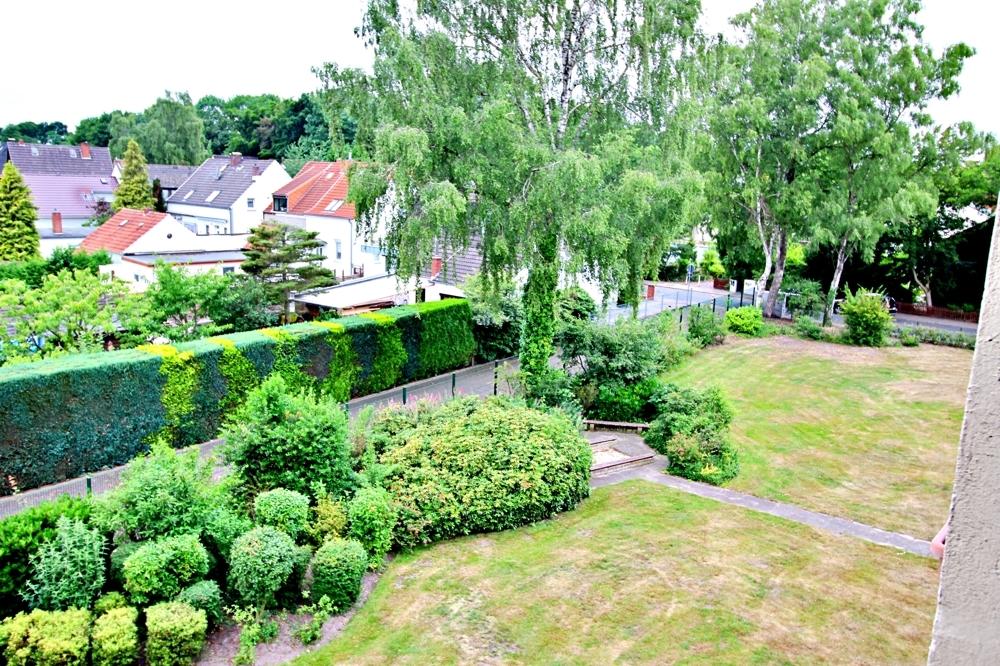 Blick auf den Gemeinschaftsbereich Garten