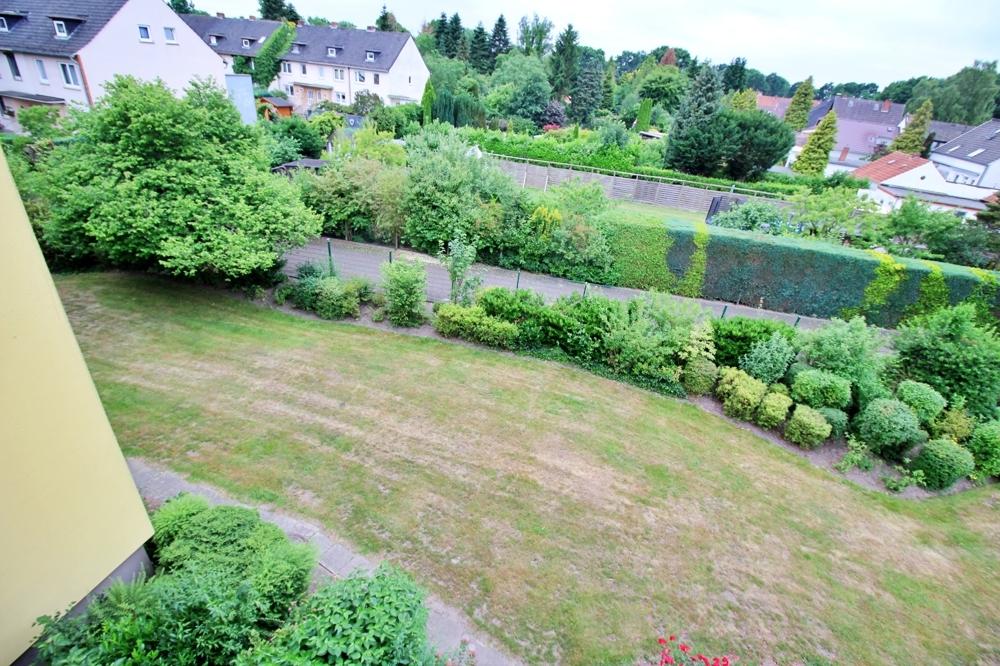 Blick auf den Gartenbereich der Wohnanalage