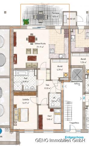 Wohnung Nr. 1 (Eheleute Schomborg)