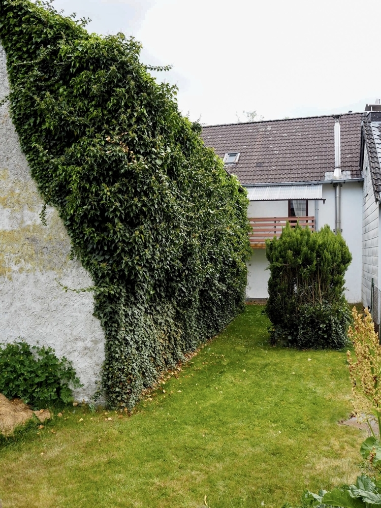 Garten mit Balkon