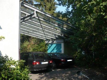 Doppel-Carport mit Echtglas-Überdachung