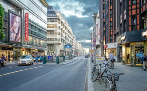 Friedrichstraße um die Ecke