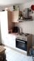 Küchenzeile mit Herd + Kühlschrank