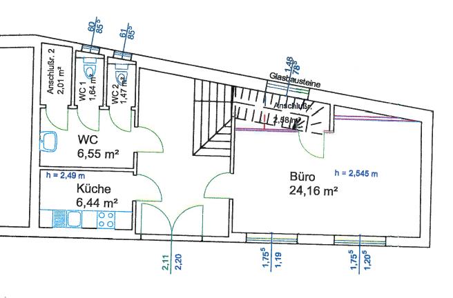 Bürogebäude Erdgeschoss