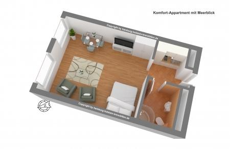 Komfort-Appartment 3D