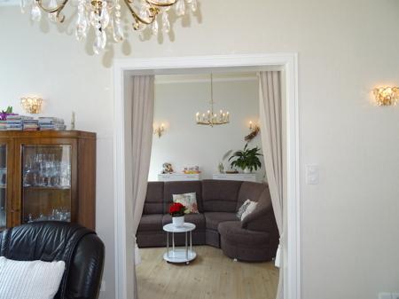 Blick Wohnzimmer/Schlafzimmer