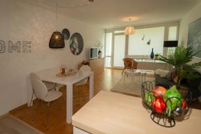 Küche Blick zum Wohnzimmer