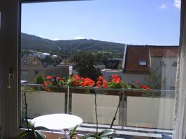 Balkon mit Aussicht nach Südwest