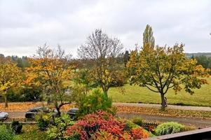 Herbstimpression vom Balkon betrachtet