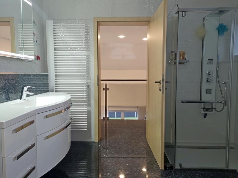 Blick aus dem Bad