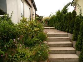 Treppe zum Haus