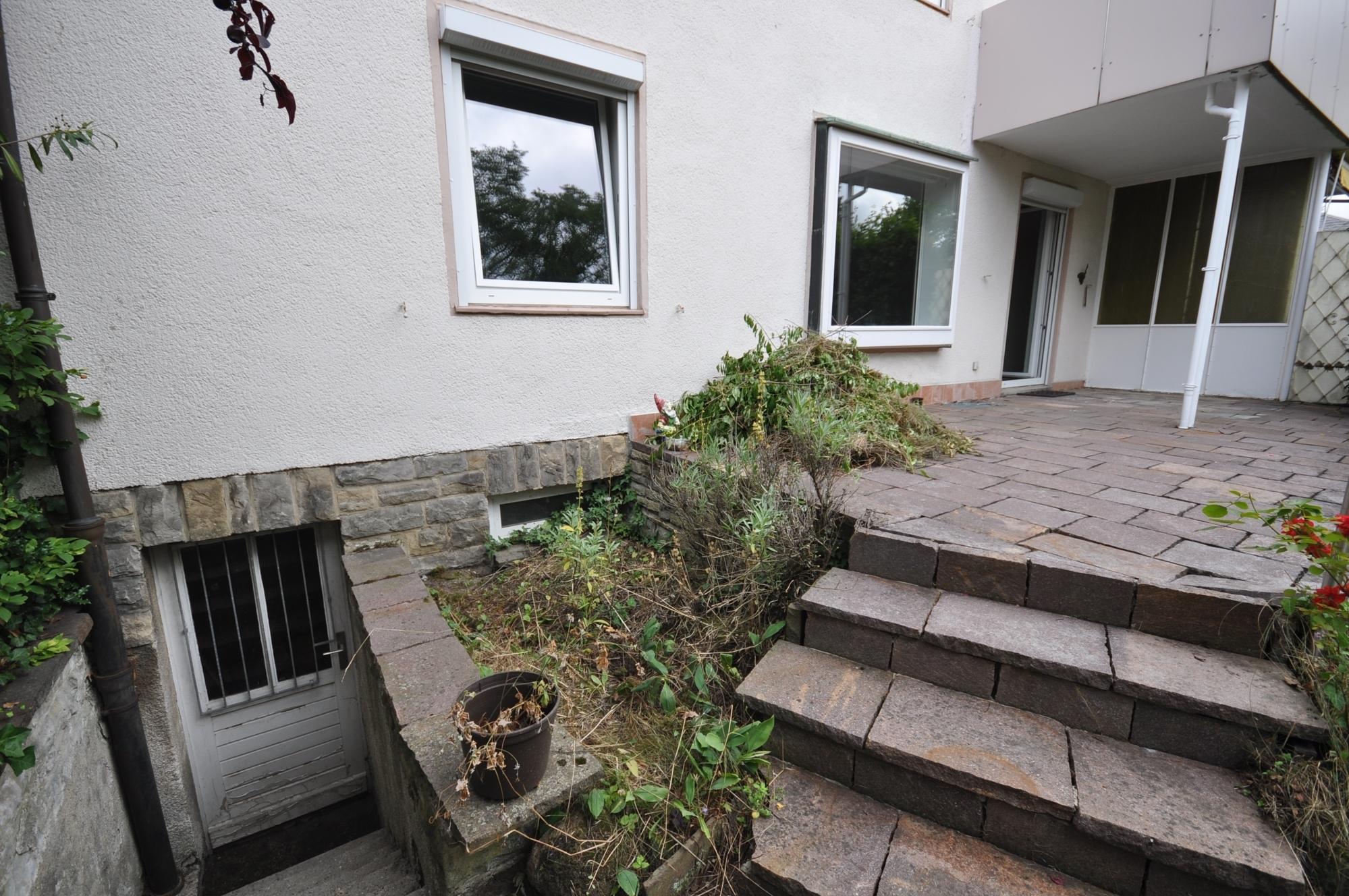 Kellerabgang von der Terrasse