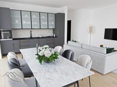 Einrichtungsbeispiel Essplatz/Küche