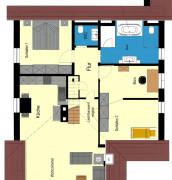 Dachgeschoss nach Umbau (Ausschnitt)