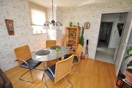 Der Eßbereich (Wohnzimmer)