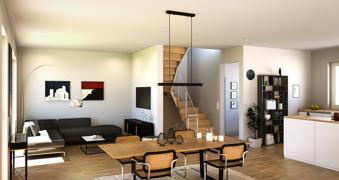 Wohnzimmer Ansicht zeigt Sonderwünsche