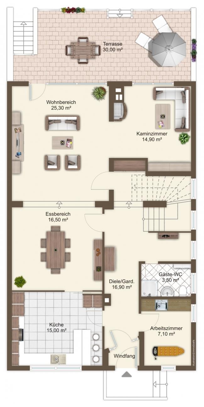 Grundriss EG Einfamilienhaus