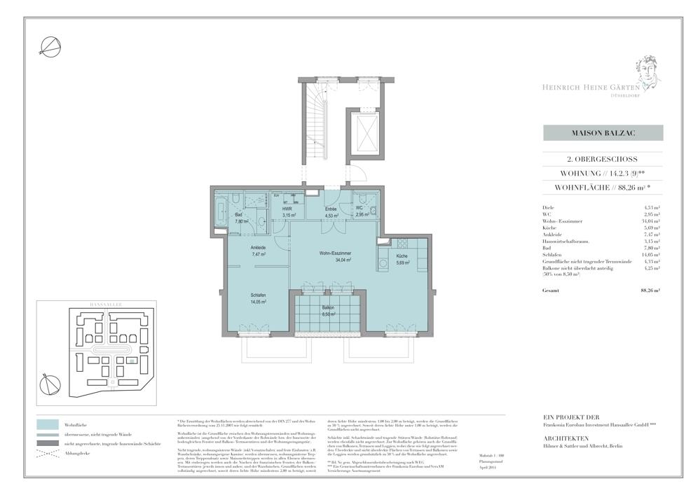 HHG Typengrundriss Haus 14 WE 9