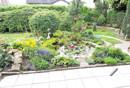 Terrasse mit Blick in Garten