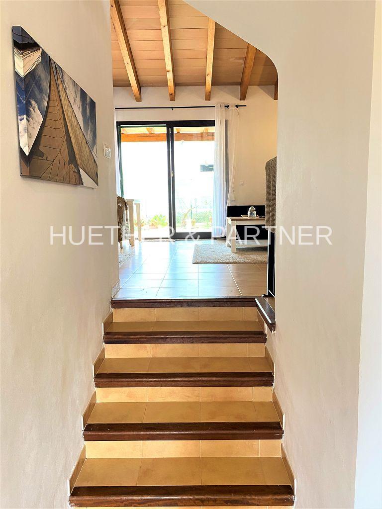 Treppenaufgang zum Wohnbereich