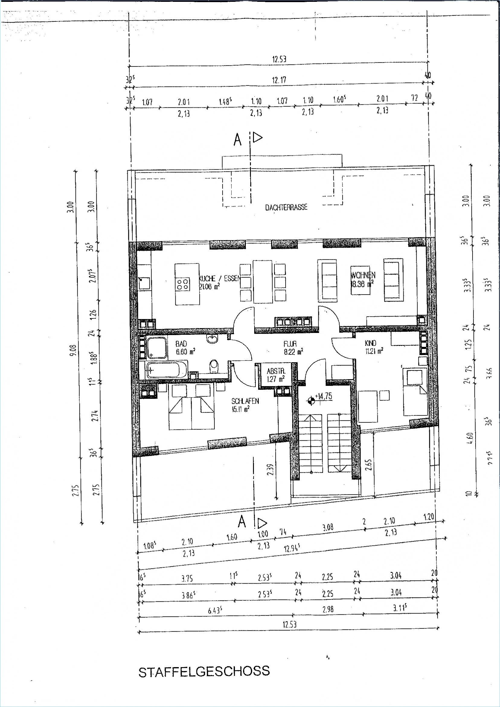 Grundriss Staffelgeschoss