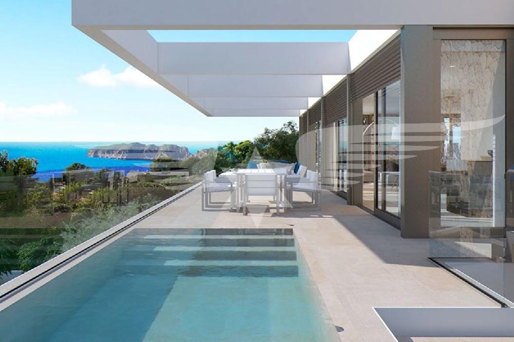 Visualisierter Pool Terrasse OG