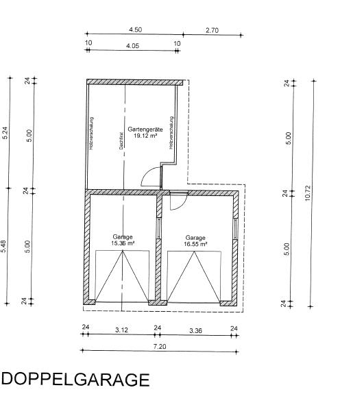 Grundriss Garagen