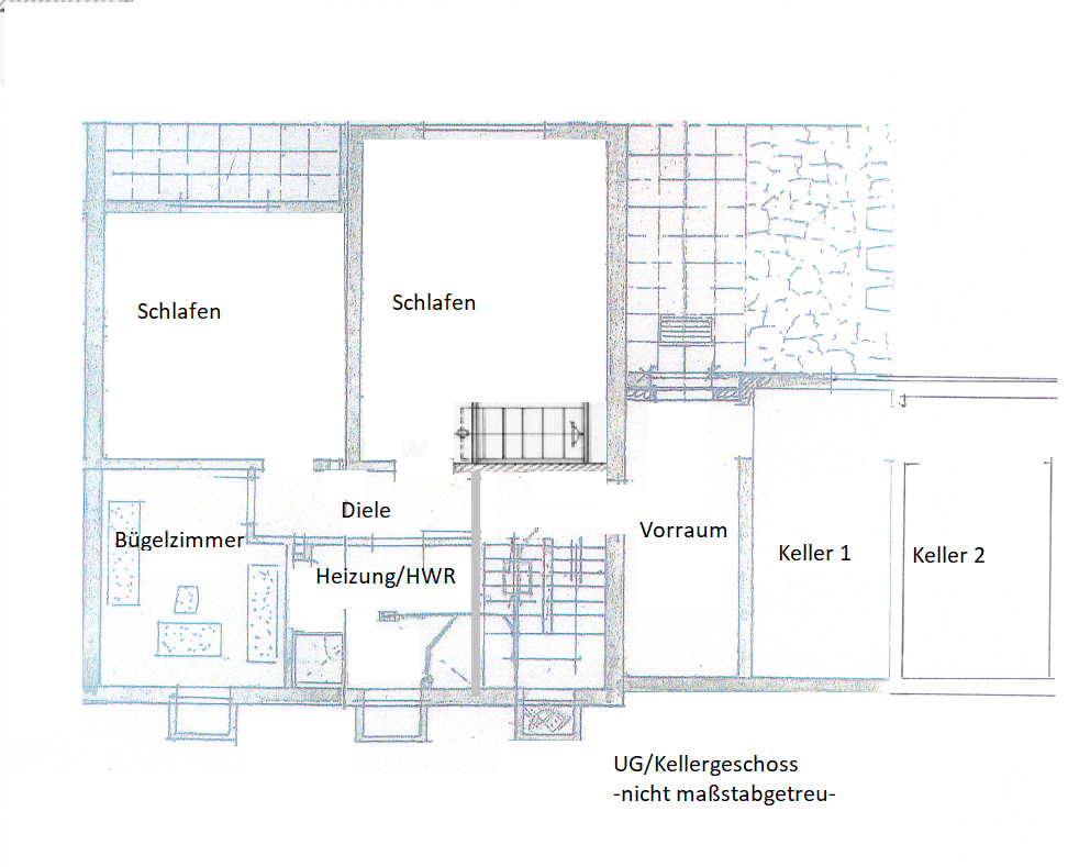 Grundriss UG-Keller