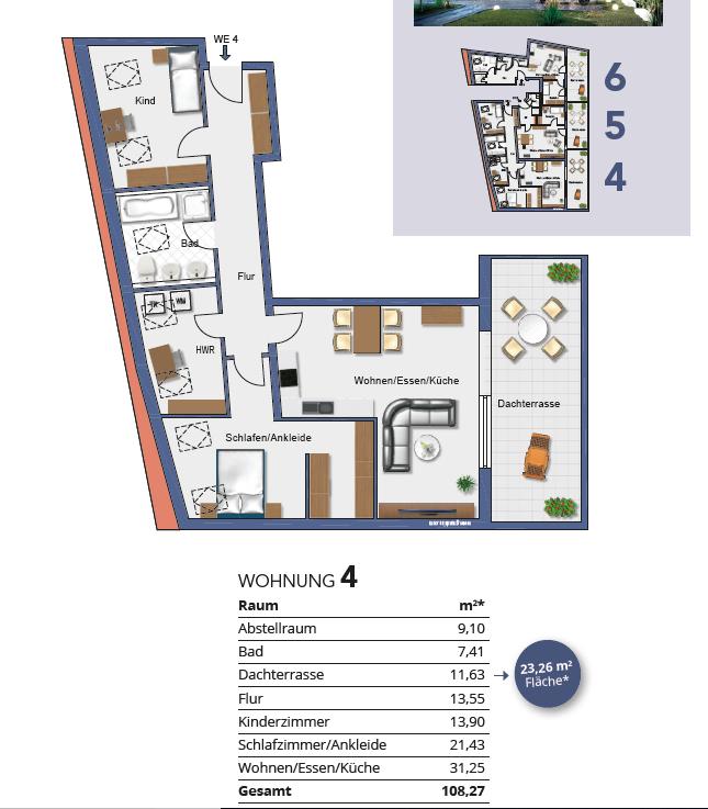 Grundriss Wohnung 4 I
