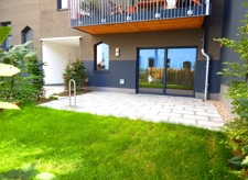 grüne Garten-Terrasse