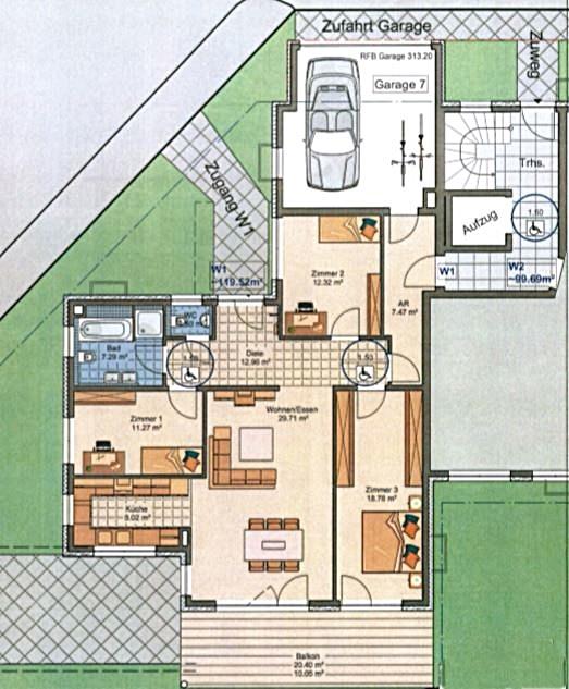 Wohnung 1 Plan