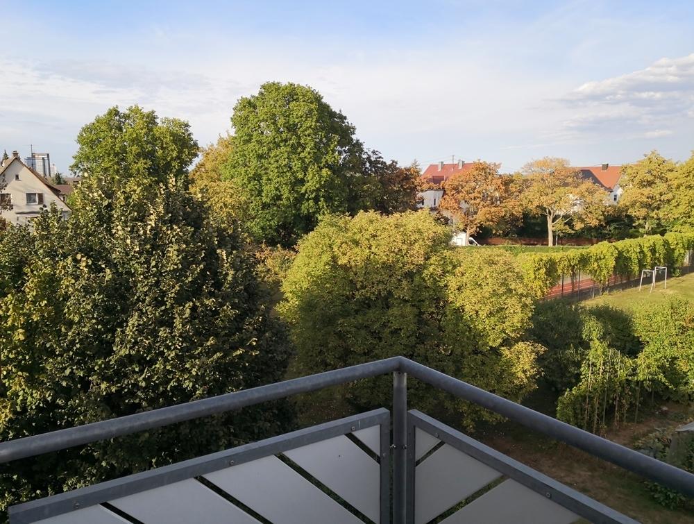 Ausblick Balkon Sommer