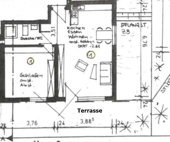 Plan Wohnung 1 Obergruppenbach