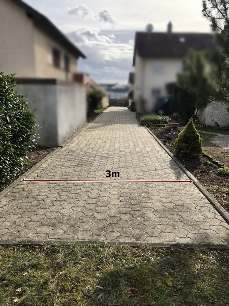 Zufahrt Grundstück